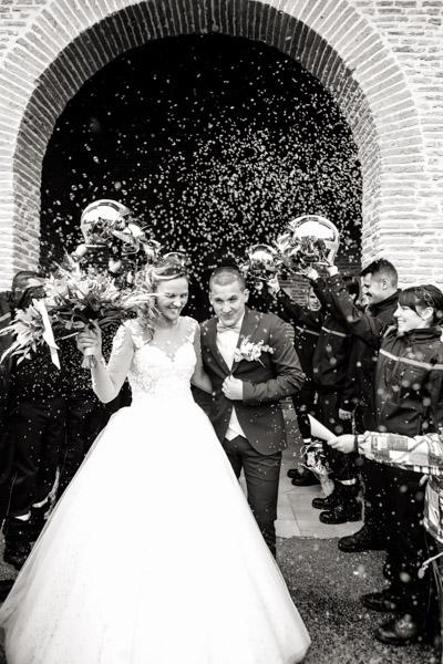 Jean Coubard-Photographe-Toulouse-sortie des mariés a l'église