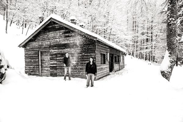 Séance Couple-Jean Coubard-Photographe- Pyrénées, Couple dans le froid