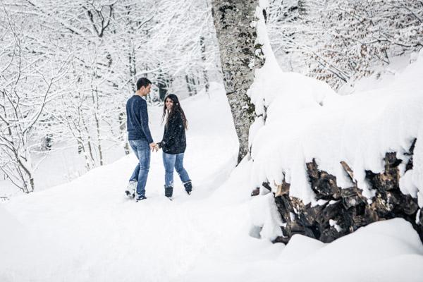 Séance Couple-Jean Coubard-Photographe- Toulouse, séance engagement a la montagne