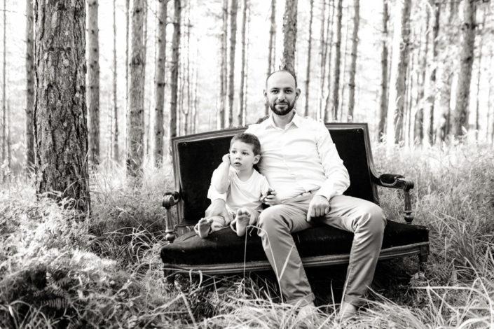 Séance Famille- Jean Coubard-Photographe-côte basque - noir et blanc