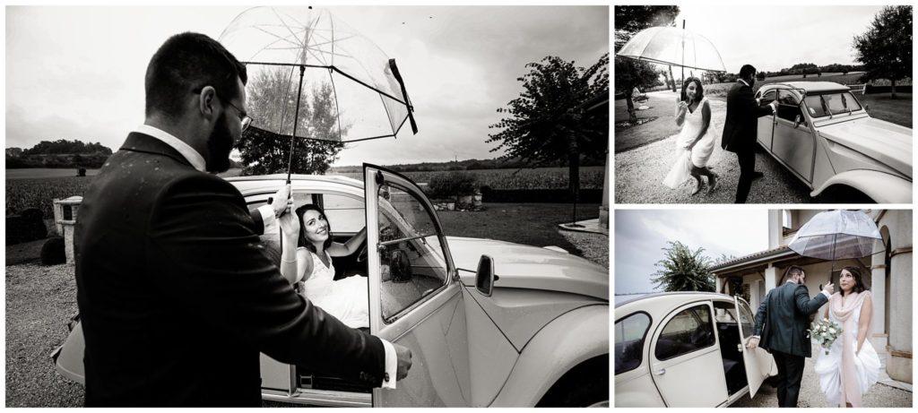 Jean Coubard-Photographe Mariage Toulouse-mariage sous la pluie
